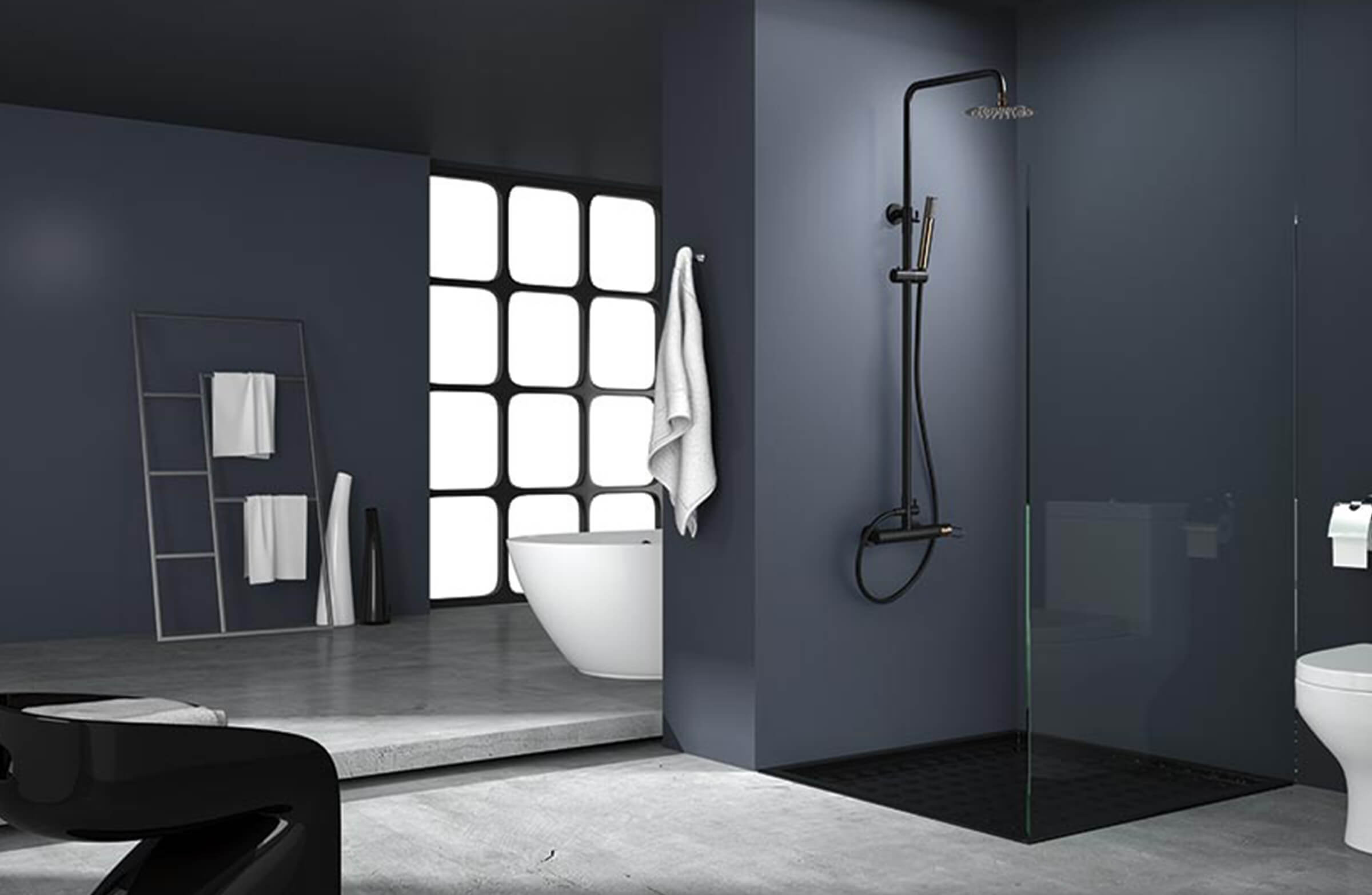 Milos ducha negro